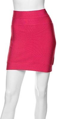 Herve Leger Charlotte Mini Skirt: Rose