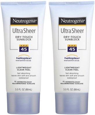 Neutrogena Ultra Sheer Sunblock SPF 45-3 oz, 2 pack