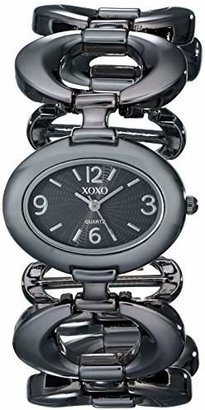 XOXO Women's XO5207 Dial Gun Metal Open Link Bracelet Watch