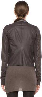 Rick Owens Clean Calfskin Leather Biker Jacket in Kool Aid