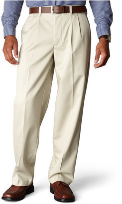 Dockers Signature Khaki Relaxed Fit Pleated Pants, Limited Quantities $58 thestylecure.com