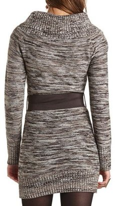 Charlotte Russe Marled Cowl Neck Sweater Dress