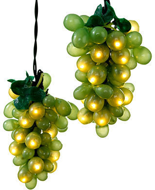 Kurt Adler Indoor/Outdoor String Lights, Green Grapes