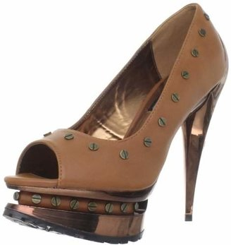 The Highest Heel Women's Flame-41-Csof Open-Toe Pump