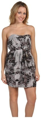 Twelfth St. By Cynthia Vincent by Cynthia Vincent - Strapless Dress with Side Drape (Crepe de Chine) - Apparel