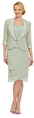 Le Bos Satin-Piped Chiffon Skirt Set