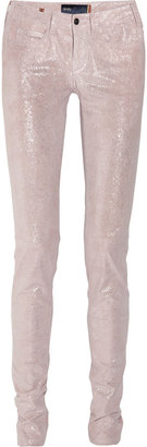 Notify Jeans Bamboo glittered stretch-leather skinny pants