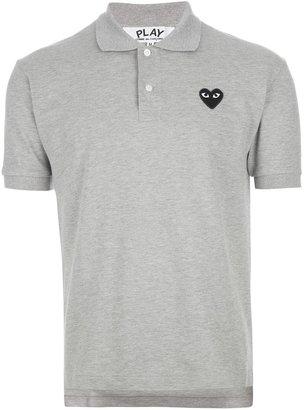 Comme des Garcons emblem print polo shirt