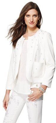 Juicy Couture Crepe Embellished Open-Front Jacket