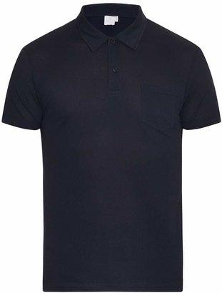 SUNSPEL Riviera cotton-piqué polo shirt $95 thestylecure.com