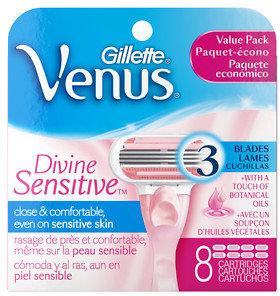 Gillette Venus Razor Refill Cartridges, Divine Sensitive