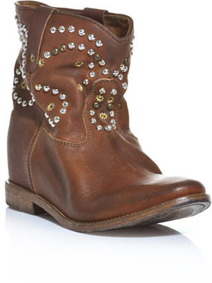 Isabel Marant Caleen hidden wedge studded boots