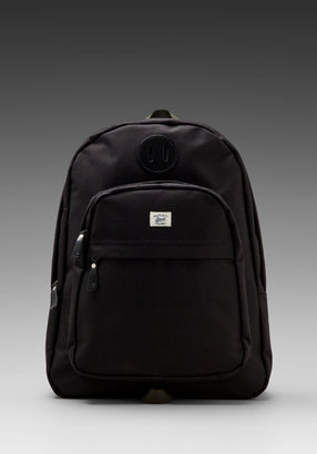 Billykirk No. 297 Zipper Top Backpack in Black/ Olive Sport
