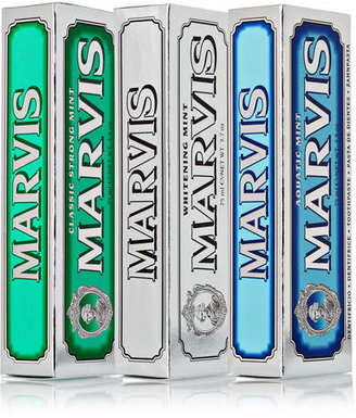 Marvis Classic Strong Mint, Aquatic Mint And Whitening Mint Toothpaste, 3 X 75ml - one size