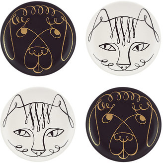 Kate Spade Woodland Park Set of 4 Cat and Dog Coasters