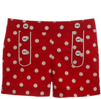 Hartstrings Girls 2-6x Dot Printed Cotton Poplin Shorts