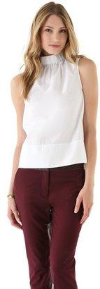Tibi Cotton Elastic Top