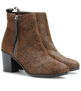 Opening Ceremony SHIRLEY ANIMAL PRINT HAIRCALF ANKLE BOOTS
