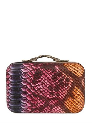 House Of Harlow Marley Colored Snake Print Clutch
