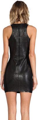 Dolce Vita Begonia Lazer Cut Leather Dress