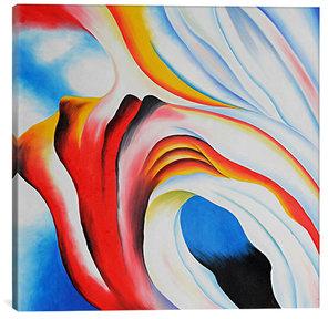 Music Pink & Blue by Georgia O'Keeffe (Giclee Canvas)