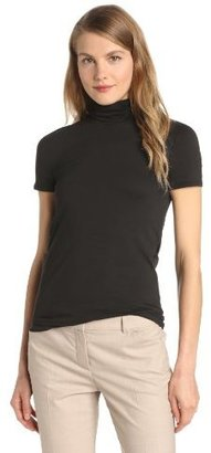 Theory Women's Elisabeth Stay Short-Sleeve Mockneck Top