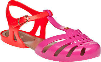 Melissa Spider Hits Flat Sandal Pink/Red Jelly