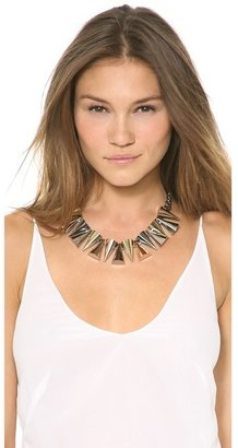 Magid Sarah Large Mixed Metal Cone Necklace