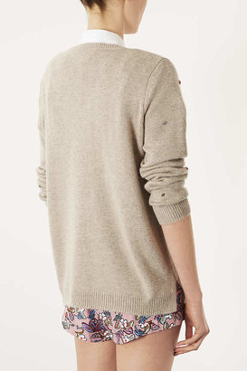 Topshop Knitted Crystal Sweat