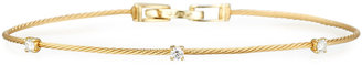 Paul Morelli 18k Yellow Gold Three-Diamond Bracelet, 0.18 TCW