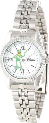 Disney Women's W000587 Kermit The Frog Silver-Tone Status Watch
