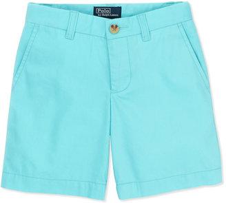 Ralph Lauren Preppy Cotton Shorts, Vacation Blue, 2T-3T