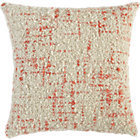 CB2 Bouclé Orange Pillow With Feather-Down Insert.