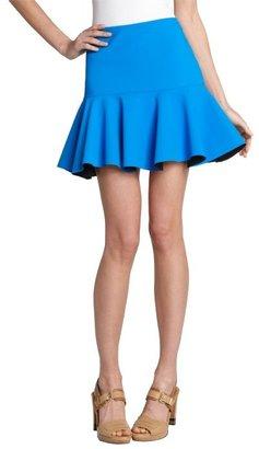 Robert Rodriguez electric blue techno flouce mini skirt
