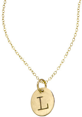 Sweet Pea Urban Sweetpea Oval Personalized Capital Initial Necklace