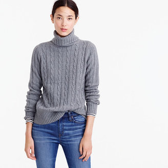 Cambridge cable chunky turtleneck sweater $98 thestylecure.com