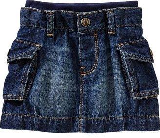 Old Navy Jersey-Waist Denim Skirts for Baby