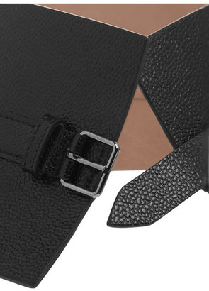 Alaia Textured-leather waist belt