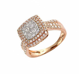 Effy 14K White and Rose Gold 0.75ct Diamond Ring