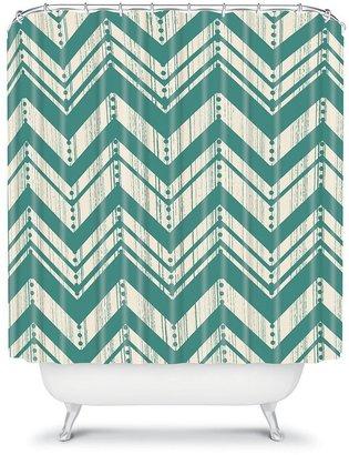 DENY Designs Heather Dutton Weathered Chevron Fabric Shower Curtain