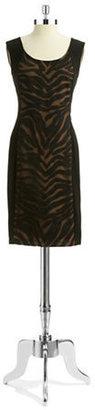 Anne Klein Patterned Bodycon Dress