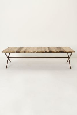Anthropologie Plank House Coffee Table