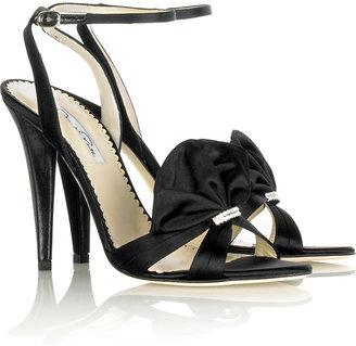 Oscar de la Renta Fan satin sandals