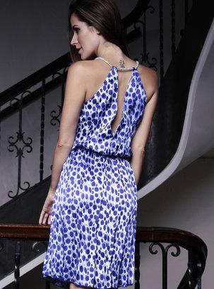 Baccio Couture - Noemi - 2828 Painted Mesh Short Dress