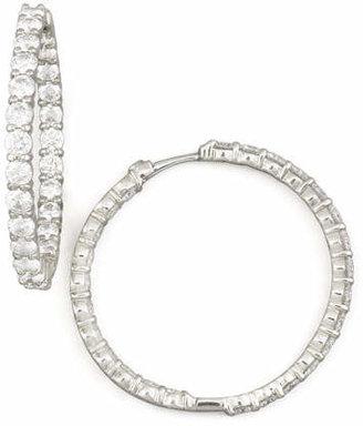 Roberto Coin 35mm White Gold Diamond Hoop Earrings, 5.55ct