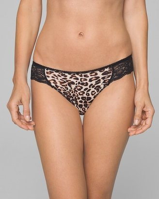 Soma Intimates Microfiber w/ Lace Bikini