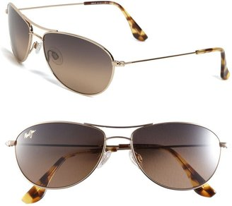 Maui Jim Baby Beach 56mm PolarizedPlus2® Aviator Sunglasses
