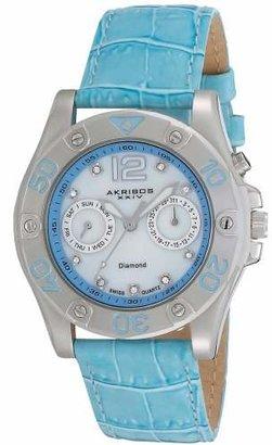 Akribos XXIV Women's AKR483BU Diamond Multi-Function Watch