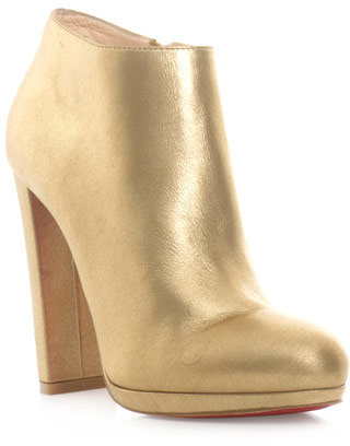 Christian Louboutin Rock and gold ankle boots