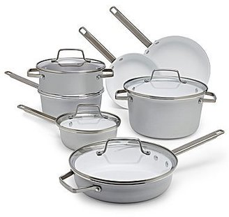 JCPenney jcp EVERYDAYTM 11-pc. Brushed Aluminum Ceramic Cookware Set